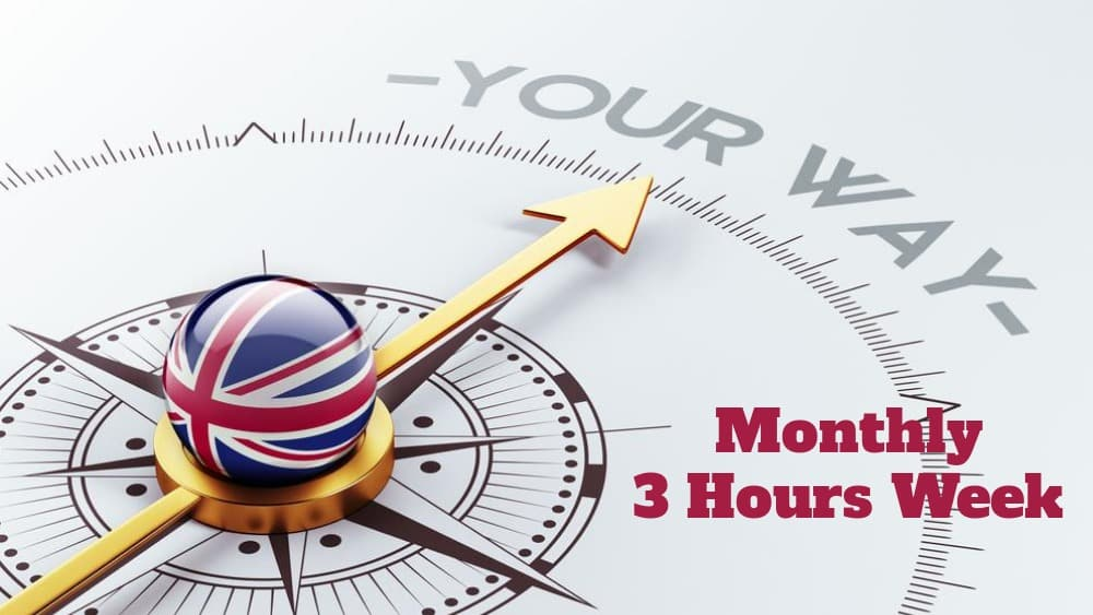 English course 3 hours Monthly