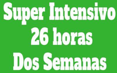 Super Intensivo Individual 26 horas (Dos Semanas)