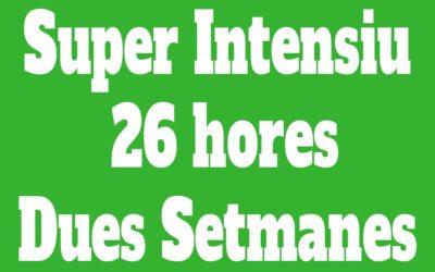 Super Intensiu Individual 26 hores (Dues Setmanes)