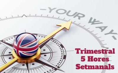 Curs d'Anglès 5 hores setmanals (Pagament Trimestral)