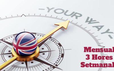 Curs d'Anglès 3 hores setmanals (Pagament Mensual)