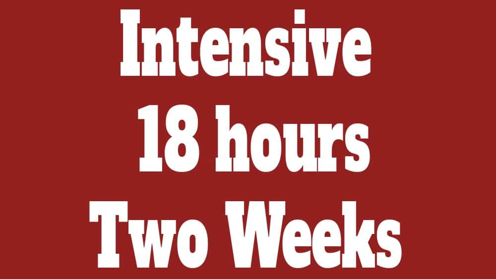 intensive course 18 hours