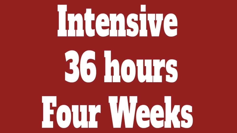 intensive course 36 hours