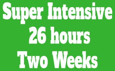 Super Intensive Course 26 hours (Two Weeks)