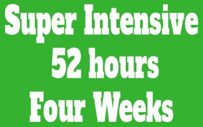 Super Intensive Course 52 hours (Four Weeks)