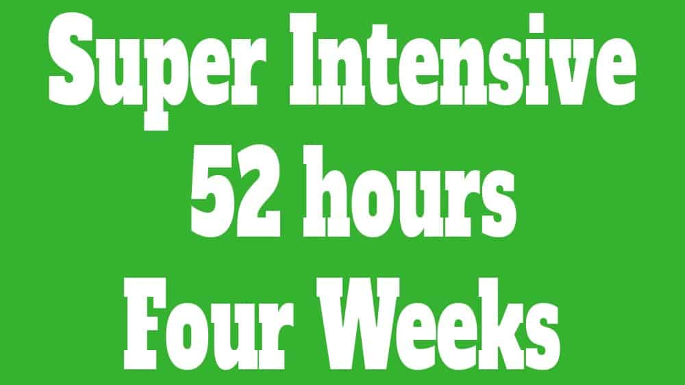 super intensive course 52 hours
