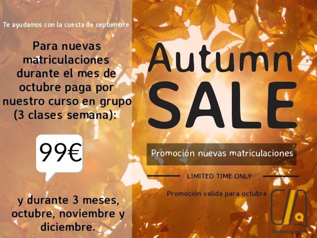 Promocion octubre cursos de ingles